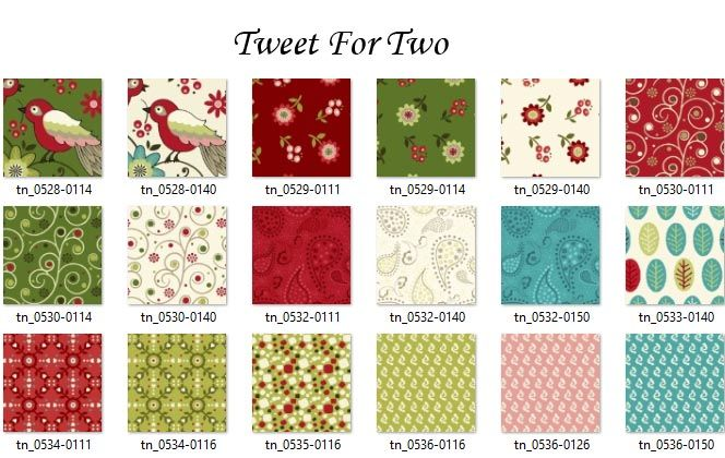 Tweet for Two Swatches
