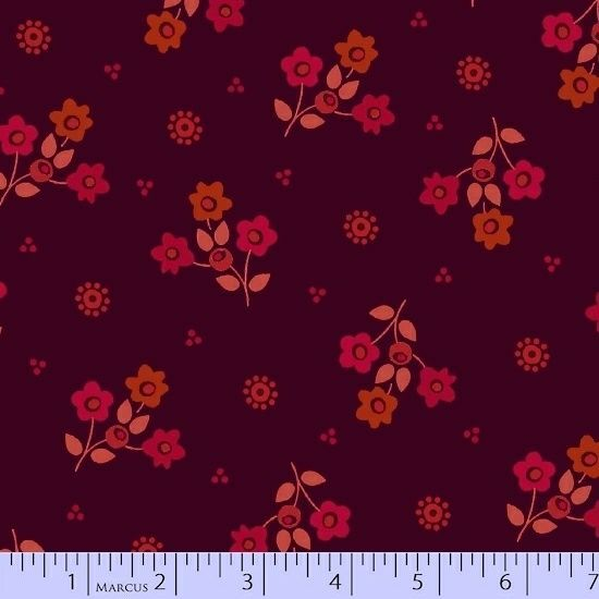 Intrigue Burgundy and Red Tossed Floral