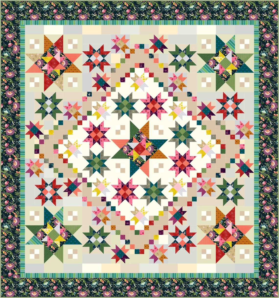 Block Of The Month Patterns Color Love Bom Pattern