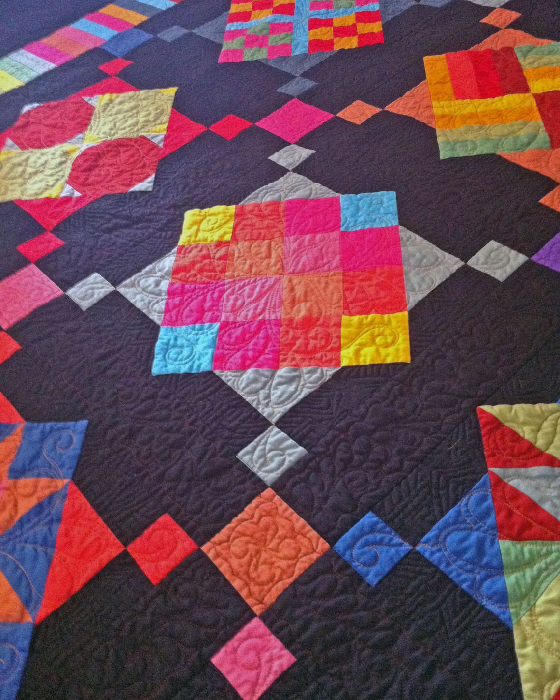 Quilt Patterns Amish With A Twist Bom Pattern