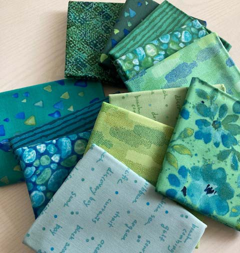 Seaglass 12 Fat Quarters