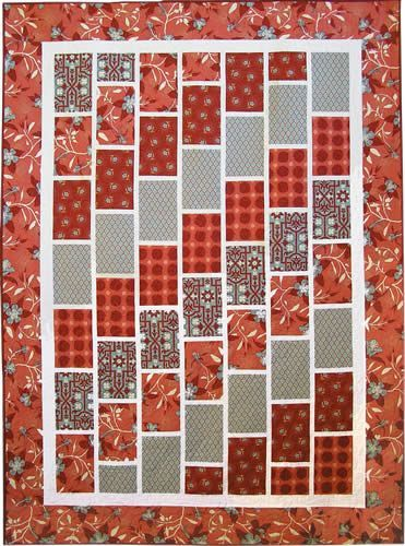 Quilt Patterns 161 Red Brick Road Pattern