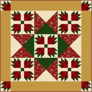 Christmas Paws Gold Border