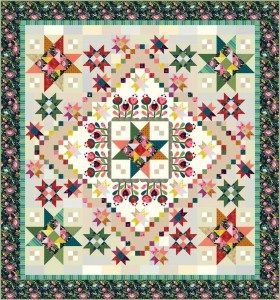 NEW Color Love Applique Quilt