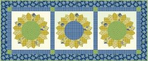Sunflower Garden Runner2 28 x 68