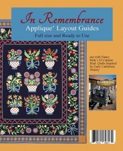 In Remembrance Applique Layout Guides