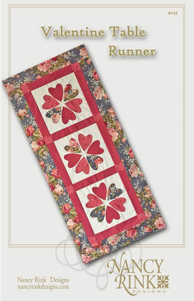 #121 Valentine Table Runner Pattern